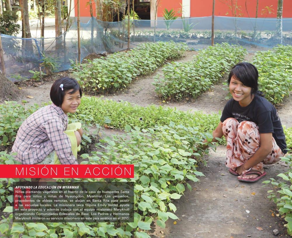 APOYANDO LA EDUCACIÓN EN MYANMAR