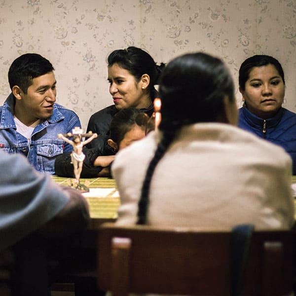 Feligreses de una parroquia y una pequeña comunidad cristiana en Cochabamba, Bolivia.