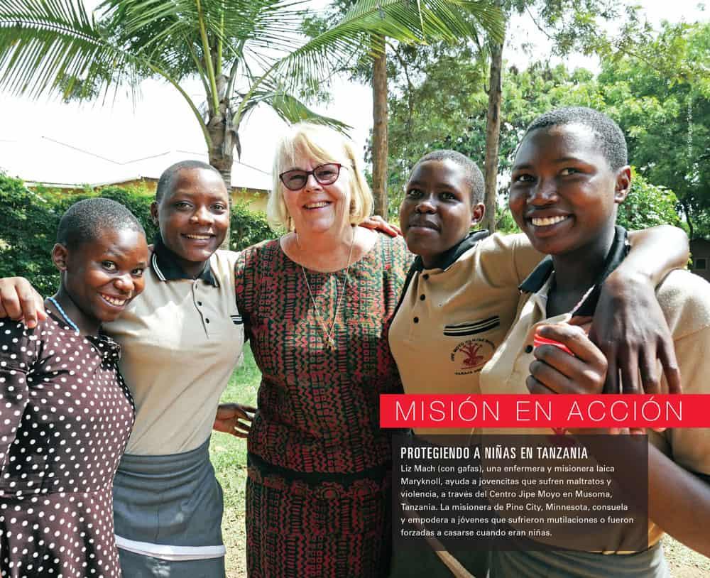 Misioneros Julio Agosto 2019 centerspread Hermana Liz Mach en Tanzania