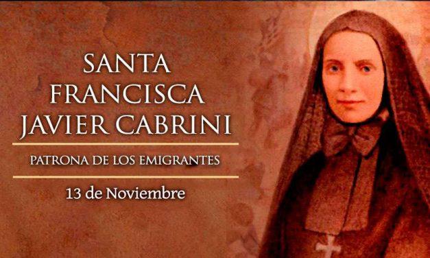 Hoy es fiesta de Santa Francisca Javier Cabrini, patrona de los emigrantes